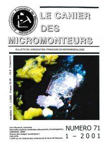 cahier des micromonteurs 71