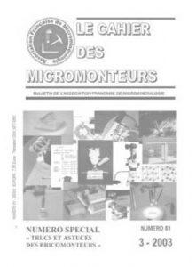 cahier des micromonteurs 81